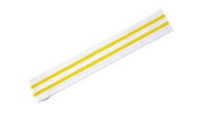 ceinture-blanche-deux-bande-jaune-horizontale