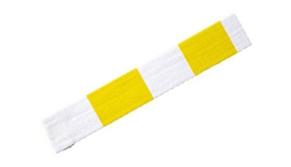 ceinture-blanche-jaune