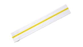 ceinture-blanche-une-bande-jaune-horizontale